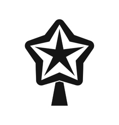 Star for christmass tree icon simple style vector