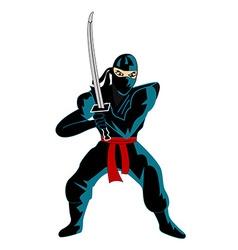 Ninja over white background vector