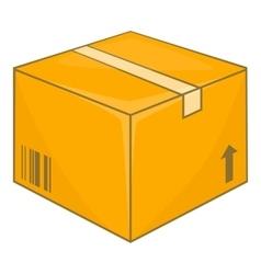 Cardboard box icon cartoon style vector image