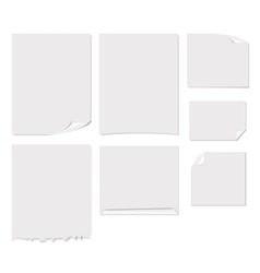 White blank page vector