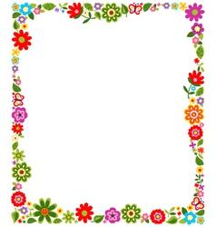 floral border frame background vector image