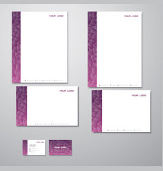 Stationary purple triangles vector