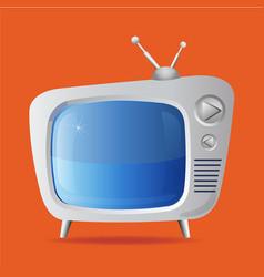 The good old retro tv vector