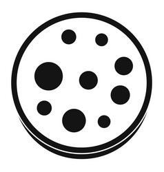 Slice of salami icon simple vector