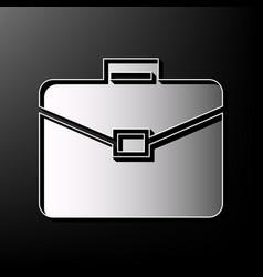 Briefcase sign gray 3d vector