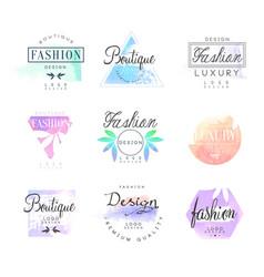 Fashion luxury boutique set for logo design vector