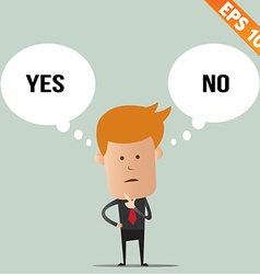 Business man thinking of choice - - eps10 vector