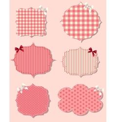 set of different Valentines dey labels design vector image