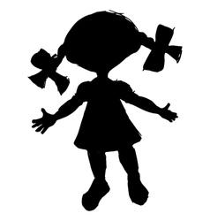 little doll vector image
