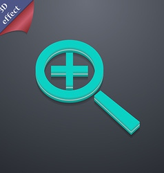 Magnifier glass zoom tool icon symbol 3d style vector