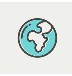 Modern globe thin line icon vector image