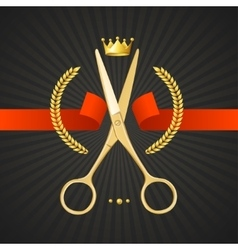 Scissors Barber Concept vector image