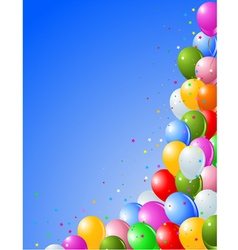 Balloons on a blue vector