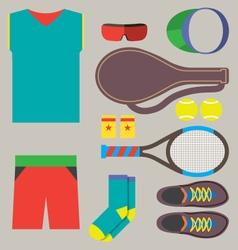 Top View Tennis Men Gears vector image