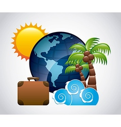 Travel vacations design vector