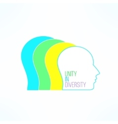 Unity in diversity concept united people vector