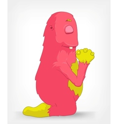 Funny monster prey vector