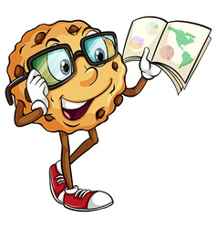 A crunchy cookie reading vector