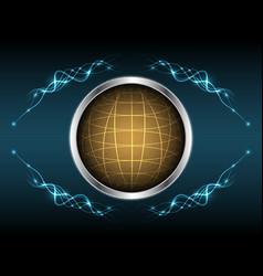 Abstract globe light line element shape design vector