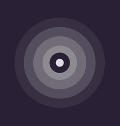 abstract line ripple emblem radar sound or vector image vector image