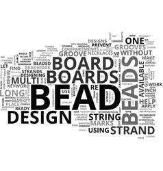 Bead board text word cloud concept vector