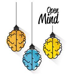 brain-shaped lamps design vector image