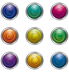 buttons for design vector image vector image