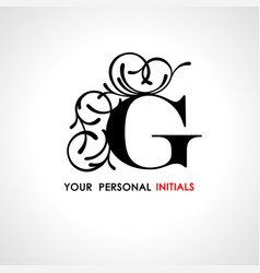 capital letter g decorated with vegetable vector image