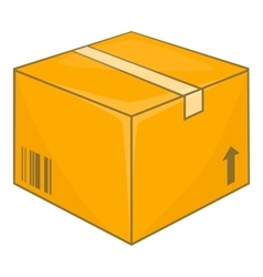 Cardboard box icon cartoon style vector image