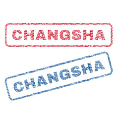Changsha textile stamps vector