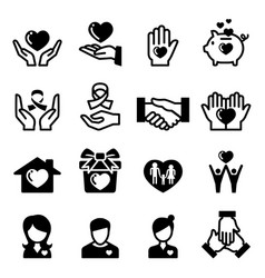 charity donation giving sharing icon vector image