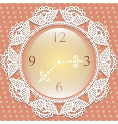 Clock with frame of lace vector image