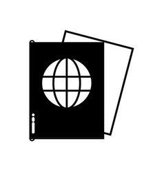 contour passport document id to international vector image