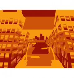 cool cityscape vector image