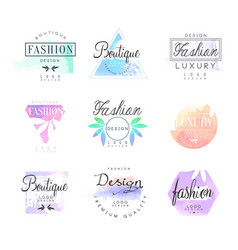 Fashion luxury boutique set for logo design vector
