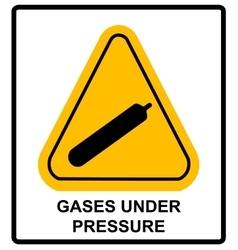 Gases under pressure sign symbol vector