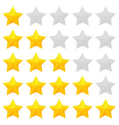 Golden stars rating vector