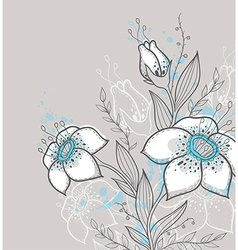 Hand drawn decorative background vector image vector image