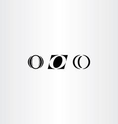 icons o letter black logo o set vector image vector image