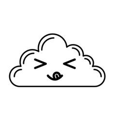 Kawaii cloud cartoon vector