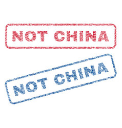 Not china textile stamps vector