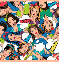 pop art style pattern vector image vector image