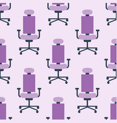 purple color armchair modern designer chair vector image vector image