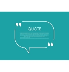 Quote blank speech bubble abstract bright design vector