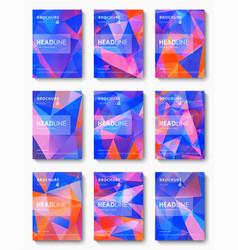 set of brochure design template vector image