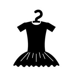Tutu ballet on the hanger costume vector