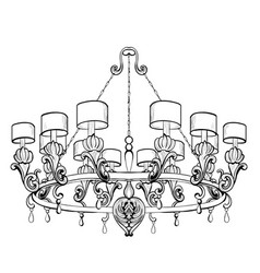 vintage baroque elegant chandelier luxury vector image