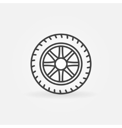 Wheel linear icon vector