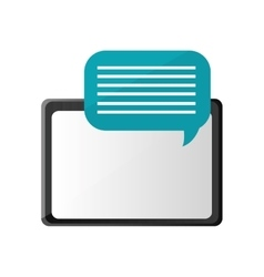 Tablet and conversation bubble icon vector