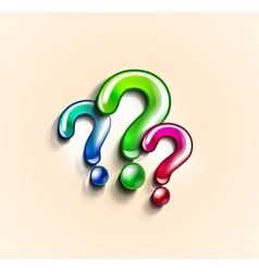 Colorful question marks design template vector